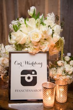 Sign for Instagram Hashtag | Photography: KLK Photography. Read More:  http://www.insideweddings.com/weddings/nature-inspired-alfresco-ceremony-tent-reception-at-malibu-ranch/811/