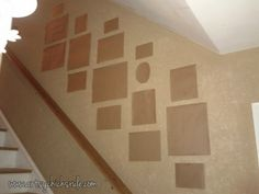 Wall Templates for Thrifty Gallery Wall: Plan your wall layout the smart way!!  artsychicksrule.com  #gallerywall