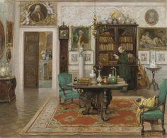 ◇ Artful Interiors ◇ paintings of beautiful rooms - Cesare Vianello