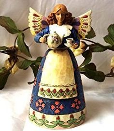 Jim Shore Angel Of Hospitality With Teapot - Collectible