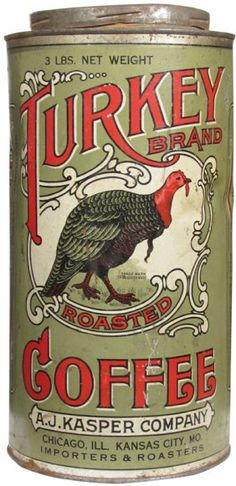 Turkey Brand Roasted Coffee 3 # Tin : Lot 301