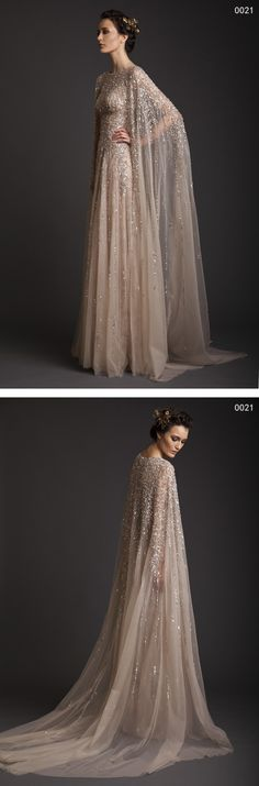 Fall Winter Sequined Tulle Long Evening Dresses Elegant Modest Evening Gowns With Court Train