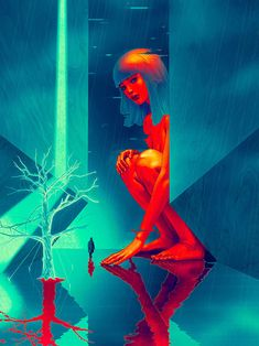 Cartazes de filmes James Jean para Blade Runner 2049