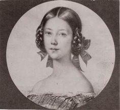 """ca. 1850 - """"Portrait of Landgräfin (Princess) Anna von Hessen"""", Anna of Prussia (1836-1918), eraly years."""