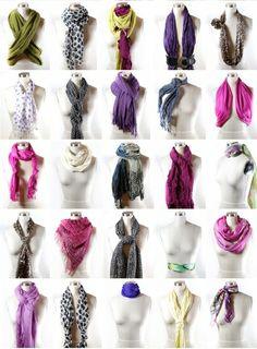 25 ways to wear a scarf!