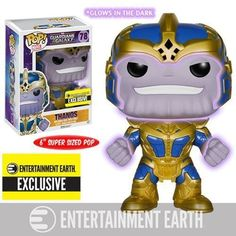 Funko Pop! Marvel Guardians of the Galaxy 6 inch Thanos Glow in the Dark #78 (Entertainment Earth Exclusive!)