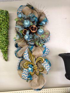 Peacock and fleur de les swag