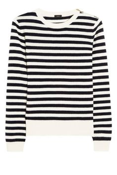 Stripes...Spring 2013...Joseph Sailor Striped Cashmere Sweater, $465; net-a-porter.com.  Come on folks, shop around & find this for less than 50.00