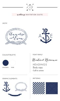 Just My Type Nautical Wedding Stationery NZ-01