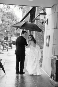 The Townsend Hotel Wedding Gallery - adorable photo inspiration when rain hits the big day :)