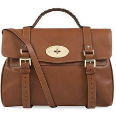 Mulberry Alexa Satchel ($1,195) ❤ liked on Polyvore featuring bags, handbags, purses, bolsas, bolsos, hand bags, man satchel bag, leather satchel handbags, leather satchel purse and brown leather handbags