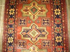 "#6) 2'7"" x 11'  Kazak runner from Afghanistan."