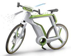 Air-Purifier Bike concept