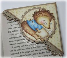 bookmark featuring a small stamp mounted on a pretty background!