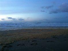 Storm aan het strand op 10 januari 2015