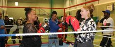 Taster boxing session big hit at Haringey Sixth Form Centre.