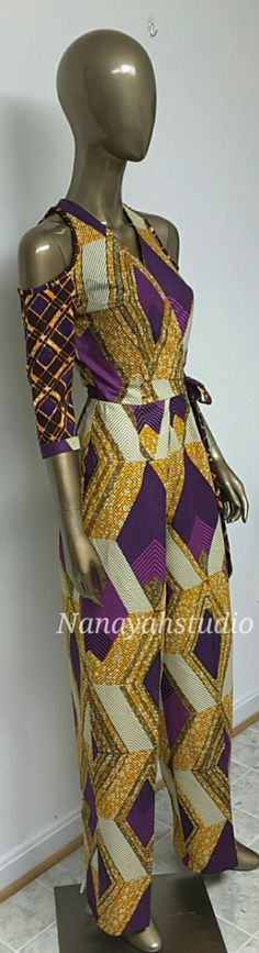 4 Factors to Consider when Shopping for African Fashion – Designer Fashion Tips African Print Jumpsuit, African Print Dresses, African Dress, African Inspired Fashion, African Print Fashion, Fashion Prints, Fashion Design, African Attire, African Wear