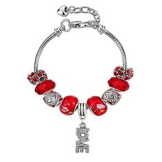 Piros a szeretet színe kristályos karkötő I www.feminashop.hu