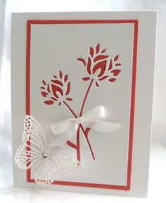 Wild Bloom and butterfly die cuts from Memory Box