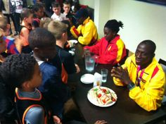 A trio of Paralympians from Ghana dropped in to inspire the next generation of sportsmen at Barnet FC's training ground -   http://www.times-series.co.uk/news/9921793.Paralympians_inspire_the_next_generation_at_The_Hive/