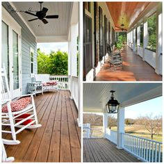 You could decorate your porch with elements from your house design. Include things such as chairs, couches, coffee tables, or perhaps fire pits to earn it extra comfortable. Right here are 16 excellent ideas you could attempt in the house. House With Porch, House Front, Front Porch, Sherwin Williams Deck Stain, Floor Stain Colors, Siding Colors, Deck Stain Reviews, Traditional Porch, Deck Colors
