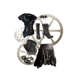 """Black Steampunk"" by addietay ❤ liked on Polyvore"