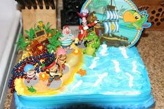 Night Owl: Jake and the Neverland Pirate Party cake idea