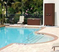 Titan Multispace | Armadio portascope marrone da esterno impermeabile  #garden #pool #madeinitaly #design
