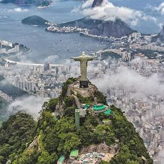 """""""Sometimes the emotions we feel directly affect our perception of time. 3,000 feet above the city, I was frozen in time with an overwhelming feeling of gratitude, love and peace. At this moment I knew travel was more than just a passion; it was my purpose."""" - @ai.visuals Rio de Janeiro, Brazil #passionpassport"""