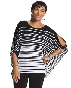 Chico's Paintbrush Striped Top #chicos