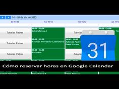 Hacer reservas en Google Calendar - YouTube
