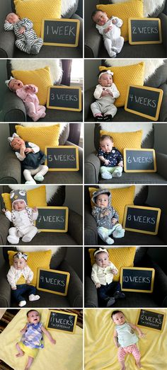 Watching Baby Grow // One Picture, Each Week, for One Year (via Bubby & Bean) Newborn Pictures, Baby Pictures, Baby Growth Pictures, Baby Monat Für Monat, Monthly Baby Photos, Foto Baby, Babies First Year, Newborn Baby Photography, Everything Baby