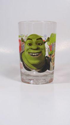 Glass Shrek The Third Glass Mc Donald New  Pint Glass Tumbler 2007 #TrademarkofdreamworkAnimationLLC