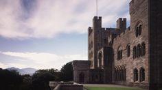 The impressive front view of Penrhyn Castle © NTPL/Matthew Antrobus