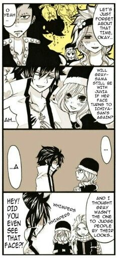 Meh otp \ ( ≧ ▽ ≦ ) o ~ ♥ and poor juvia XD