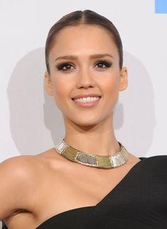 Jessica Alba Gold Collar Necklace