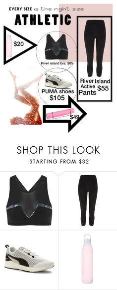 """""""Athletic"""" by abbyrozann ❤ liked on Polyvore featuring Lucas Hugh, River Island, Puma, Casall and powerlook"""