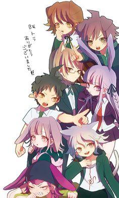 New Danganronpa V3, Danganronpa Characters, Super Danganronpa, Nanami Chiaki, Ibuki Mioda, Pink Blood, Danganronpa Trigger Happy Havoc, Nagito Komaeda, Kawaii