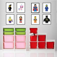 Lego Art Prints - Set of Four - 8x10 Lego Movie Wall Art - Kids Room ** Frame not included by FramesxAlicia