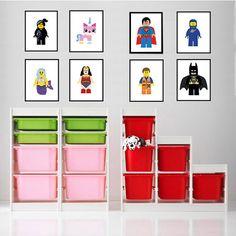 Lego Art Prints - Set of Four - 8x10 Lego Movie Wall Art - Kids Room ** Frame not included by FramesxAlicia