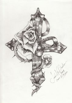 ladies cross tattoo designs | Crosses+with+roses+and+wings