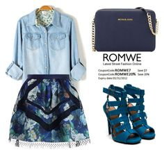 """ROMWE Blouse"" by tania-alves ❤ liked on Polyvore featuring Zimmermann and MICHAEL Michael Kors"