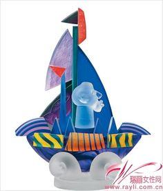 Sailor, one-of-kind made by Pawel Borowski, 异域风情的玻璃装饰品, Art Glass Borowski www.borowski-glass.com.hk