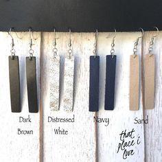 Leather Bar Earrings / Leather Earrings / Joanna Gaines