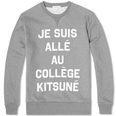 Kitsuné Tee College Sweater Grey Melange 2014SS