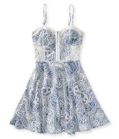 Paisley Bustier Dress from Aeropostale. Have one from American Eagle like it. Want this.