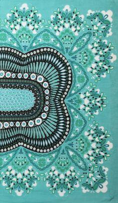 Theodora Callum turquoise scarf