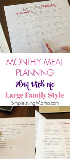 I thought it would be fun to walk you through how I do my large family monthly meal planning. The main reason I plan a monthly menu is so that I can do my once a month grocery shopping trip with ease. There's no way you can buy that much food without a plan. Even …