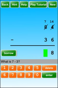 iintegratetechnology: 2 Digit Subtraction W/Regrouping in Many Ways with suggested Apps