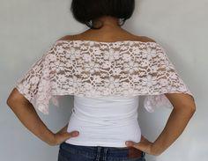 Bridal Cape Cotton Lace Top Bolero Special Occasion Shrug